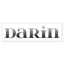 Darin Carved Metal Bumper Bumper Sticker
