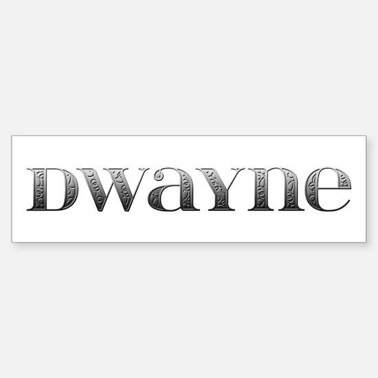 Dwayne Carved Metal Bumper Bumper Bumper Sticker