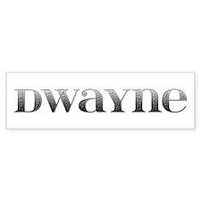 Dwayne Carved Metal Bumper Bumper Sticker