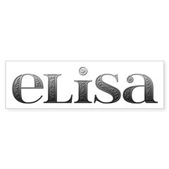 Elisa Carved Metal Bumper Bumper Sticker