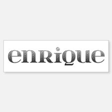 Enrique Carved Metal Bumper Bumper Stickers
