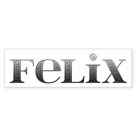 Felix Carved Metal Bumper Sticker