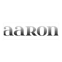 Aaron Carved Metal 42x14 Wall Peel
