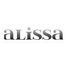Alissa Carved Metal 42x14 Wall Peel