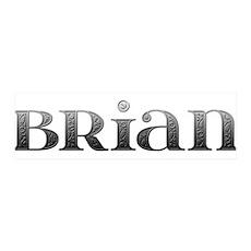 Brian Carved Metal 42x14 Wall Peel