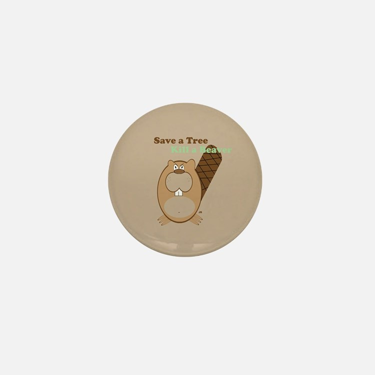 Save a Tree-Brown Mini Button