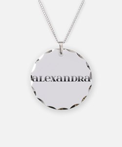 Alexandra Carved Metal Necklace