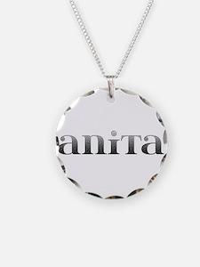 Anita Carved Metal Necklace