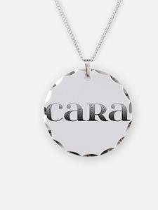 Cara Carved Metal Necklace