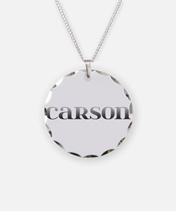 Carson Carved Metal Necklace