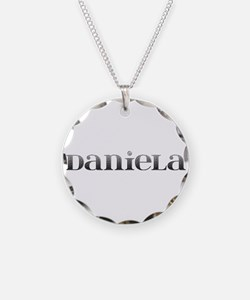 Daniela Carved Metal Necklace