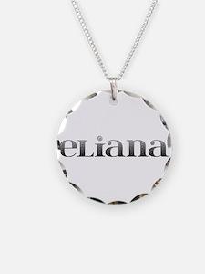 Eliana Carved Metal Necklace