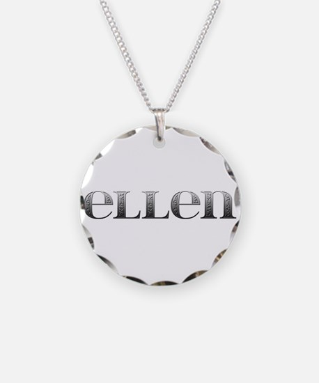 Ellen Carved Metal Necklace
