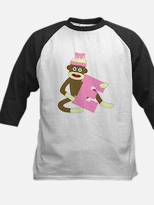 Sock Monkey Monogram Girl E Tee