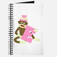 Sock Monkey Monogram Girl E Journal