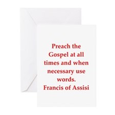 Saint Francis of Assisi Greeting Cards (Pk of 20)