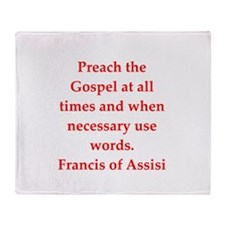 Saint Francis of Assisi Throw Blanket
