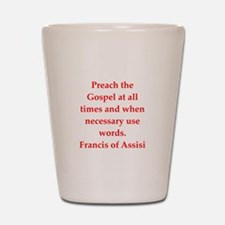 Saint Francis of Assisi Shot Glass