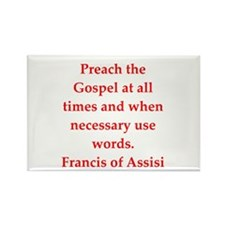 Saint Francis of Assisi Rectangle Magnet (10 pack)