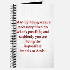 Saint Francis of Assisi Journal