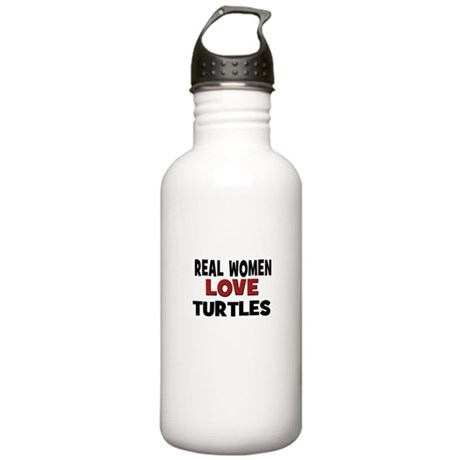 Real Women Love Turtles Stainless Water Bottle 1.0