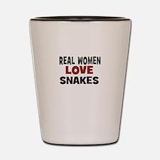 Real Women Love Snakes Shot Glass