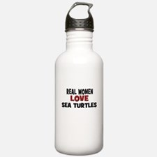Real Women Love Sea Turtles Water Bottle