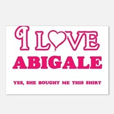 I Love Abigale - She boug Postcards (Package of 8)