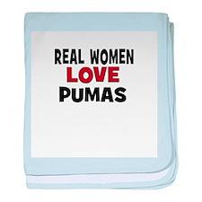 Real Women Love Pumas baby blanket