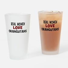 Real Women Love Orangutans Drinking Glass