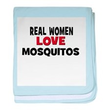 Real Women Love Mosquitos baby blanket