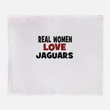 Real Women Love Jaguars Throw Blanket