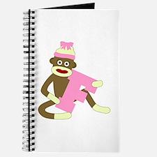 Sock Monkey Monogram Girl F Journal