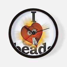 I <heart> beads Wall Clock