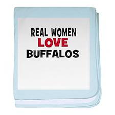 Real Women Love Buffalos baby blanket