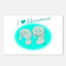 I Love Manatees Postcards (Package of 8)
