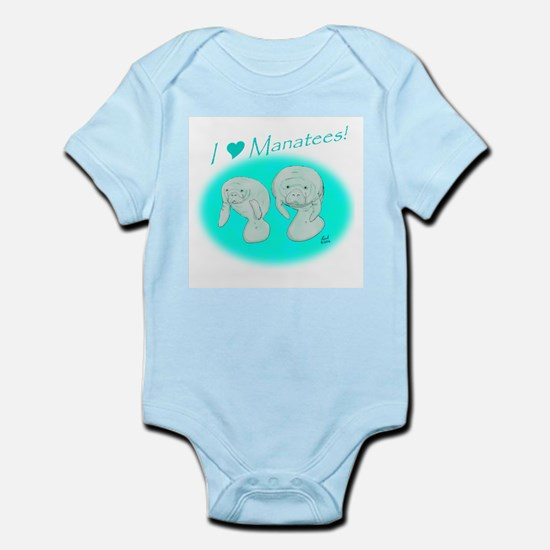 I Love Manatees Infant Creeper