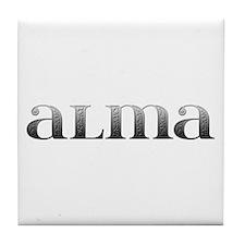 Alma Carved Metal Tile Coaster