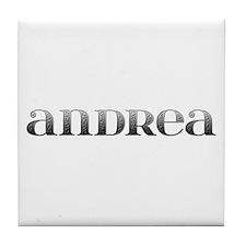 Andrea Carved Metal Tile Coaster