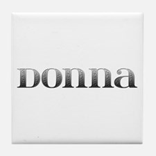 Donna Carved Metal Tile Coaster