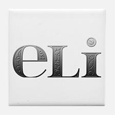 Eli Carved Metal Tile Coaster