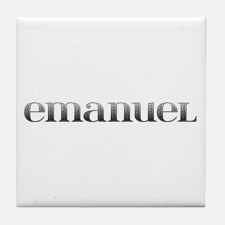 Emanuel Carved Metal Tile Coaster