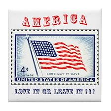 Love America Tile Coaster