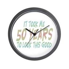 Cute Over the hill 50 Wall Clock
