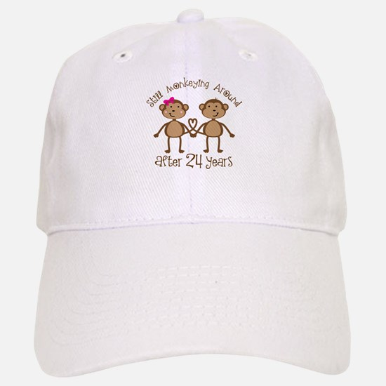 24th Anniversary Love Monkeys Baseball Baseball Cap