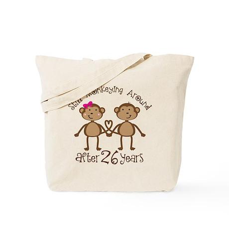 26th Anniversary Love Monkeys Tote Bag