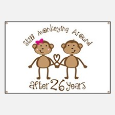 26th Anniversary Love Monkeys Banner
