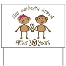 30th Anniversary Love Monkeys Yard Sign