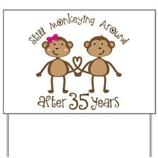 35th Anniversary Love Monkeys Yard Sign