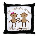 40th anniversary Throw Pillows